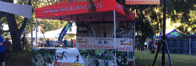 Banners and Display booth for The Burner