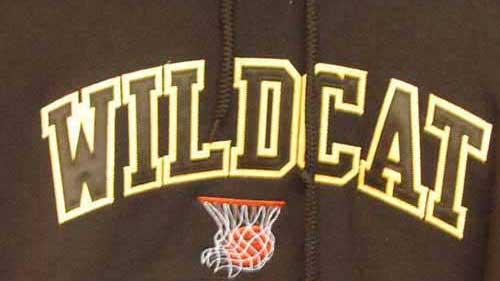 Wildcat Basketball Tackle Twill Embroidery