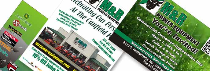 Print designs for M&R Power Equipment