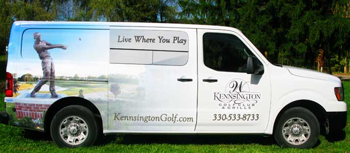 Kensington Golf Club full wrap Van Graphics