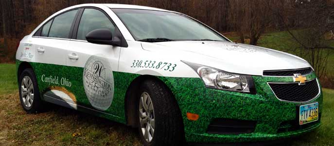 Kensington Golf Course partial car wrap